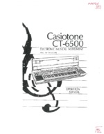 CASIO CT6500 OEM Owners