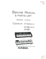 CASIO CT405 OEM Service