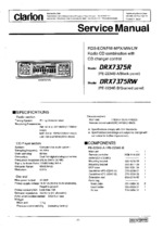 CLARION DRX7375RX OEM Service