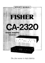 FISHER CA2320 OEM Service