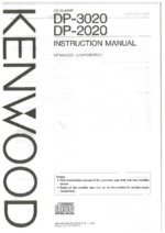 KENWOOD DP3020 OEM Owners
