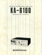 KENWOOD KA6100 OEM Owners