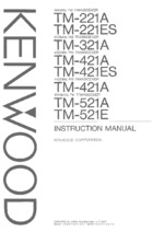 KENWOOD TM521E OEM Owners