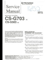 PIONEER CSG703 Service Guide