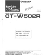 PIONEER CTW502R Schematic Only