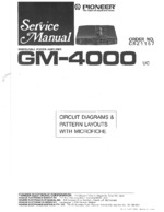 PIONEER GM-4000 Schematic Only