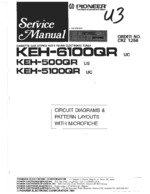 PIONEER KEH5100QR Schematic Only
