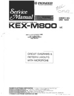 PIONEER KEXM800 Schematic Only