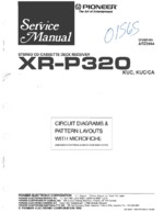 PIONEER XRP320 Schematic Only