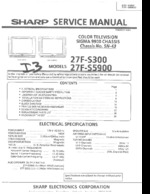 SHARP 27FS5900 OEM Service