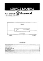 Sherwood AM-9080 OEM Service