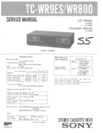 SONY TCWR9ES OEM Service