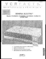 GENERAL ELECTRIC 1VCR6004X Service Guide