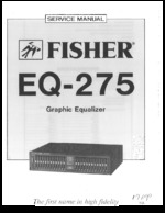 FISHER EQ275 OEM Service