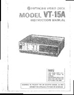 HITACHI VT15A OEM Owners