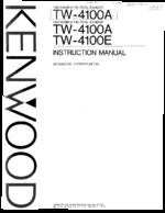KENWOOD TW4100A OEM Owners