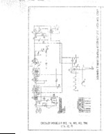 CROSLEY F5MY Schematic Only